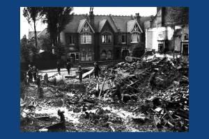 Bomb damage in Richmond Avenue, Merton