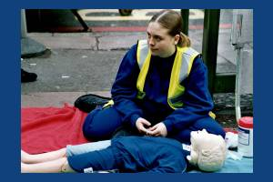 First Aid display, European Car Free Day, Morden